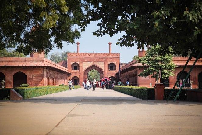 Agra Fort near the Taj Mahal