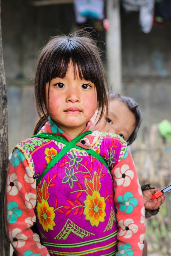 Colorful girl in Dong Van