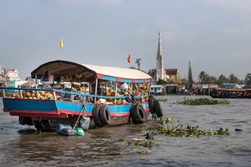 Floating market in My Tho