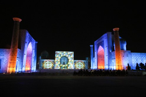Sound & light show on the Registan