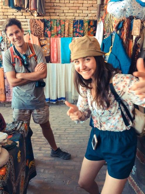 Uzbkek-Soviet bazaar shopping