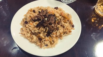Plov - Beef rice pilaf typical of Central Asia