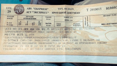 Train ticket (iPhone picture)