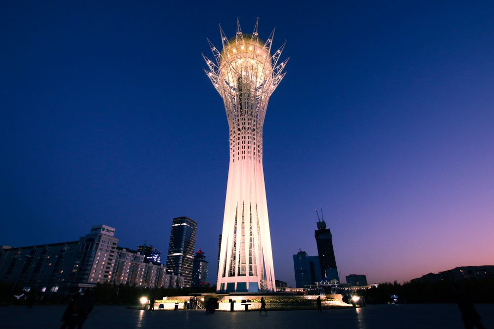 Astana Tower by night